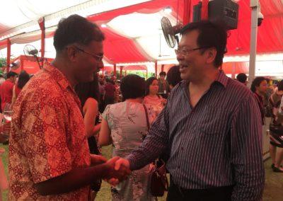 Shaking hands with Mr. Murali Pillai